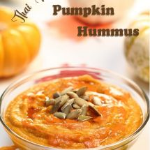 Thai Red Curry Pumpkin Hummus