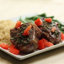 Basil Lamb Chops with Lemon Quinoa