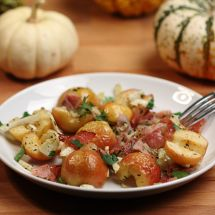 Roasted Crimson Gold Apples with Fennel & Prosciutto
