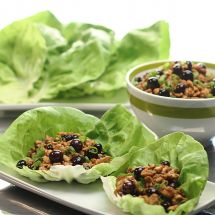 Blueberry Balsamic Chicken Lettuce Cups