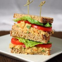 Vegan Chickpea Salad Sandwiches