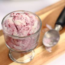 Vegan Coconut Berry Swirl Ice Cream
