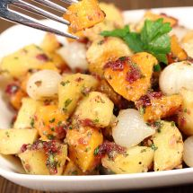 Butternut Squash & Potato Salad with Cranberry Pesto