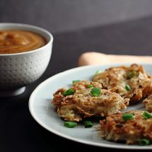 Allergy-Free Potato Latkes with Pear Mandarin Sauce