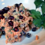 Carrot Salad with Hazelnuts and Pomegranate Seeds