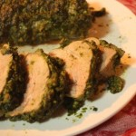 pesto tenderloin closeup