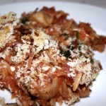 Orzo and Scallop Bake
