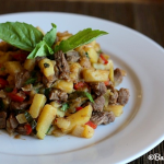 Steak and Potato Hash with Basil