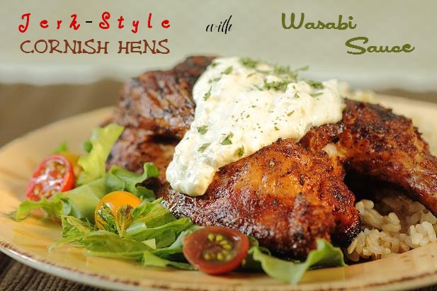 Jerk Style Chicken with Wasabi Sauce
