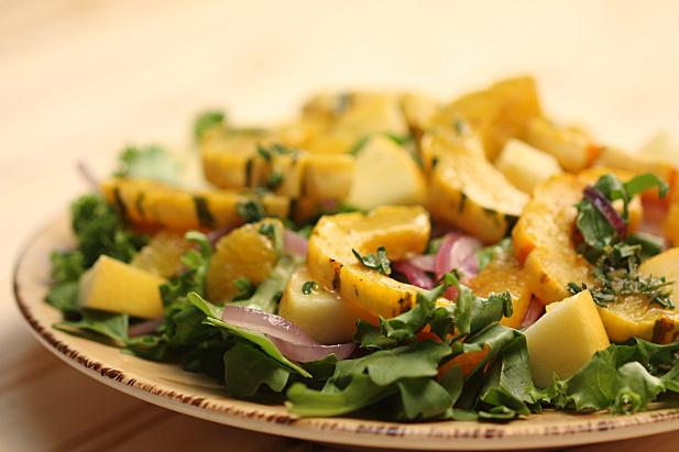 Herbed Delicata Squash Salad