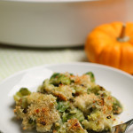 Brussels Sprout & Leek Gratin with Rosemary