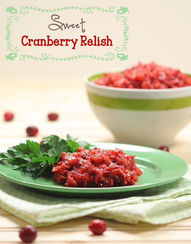Mom's Sweet Cranberry Relish
