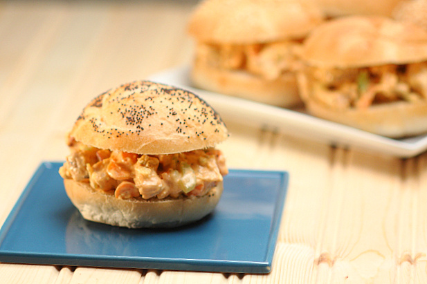 Buffalo Chicken Salad Sliders