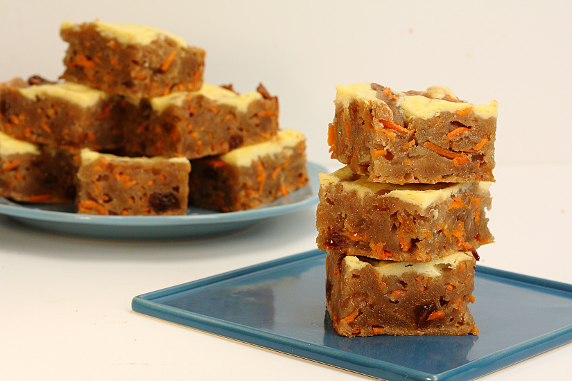 Carrot Cake Brownie Bars