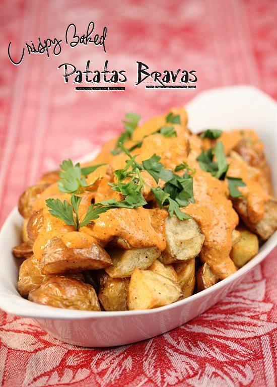 Crispy Baked Patatas Bravas
