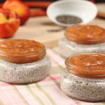 Coconut Chia Pudding with Rhubarb Nectarine Compote