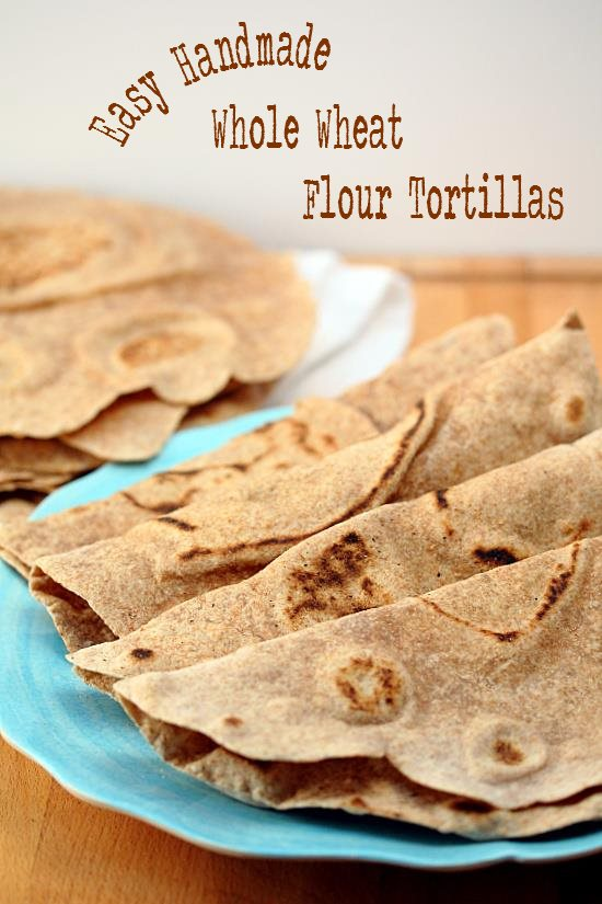 Handmade Whole Wheat Tortillas