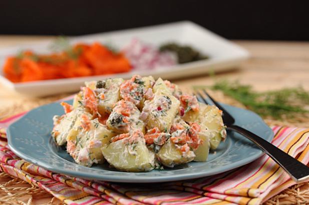 Smoked Salmon & Dill Potato Salad