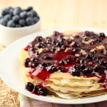 Whole Wheat Crepe Stack with Blueberry Sauce