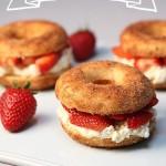 Strawberry Split Donuts