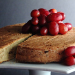 Gluten-Free Chestnut Cake with Beet Grape Sauce