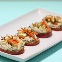 Potato Bites with Ricotta & Corn Relish & a GIVEAWAY!
