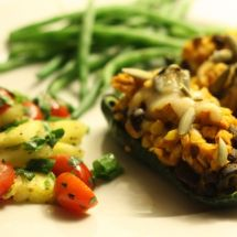 Stuffed Poblano Peppers aka Healthy Chile Rellenos