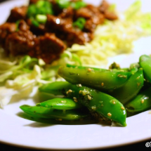 Sugar Snap Peas with Ginger Sesame Dressing