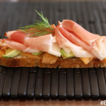 Melon, Avocado & Prosciutto Open-Faced Sandwich